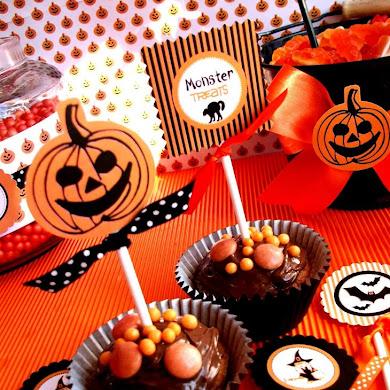 Halloween Printables | Orange & Black Spooky Party Ideas