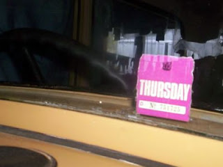 Remembering Carless Days - Thursday sticker