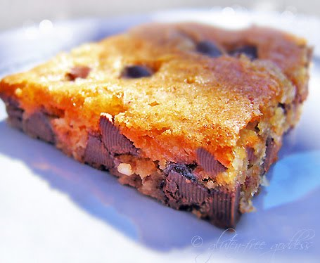 Gluten-Free Chocolate Chip Cookie Squares