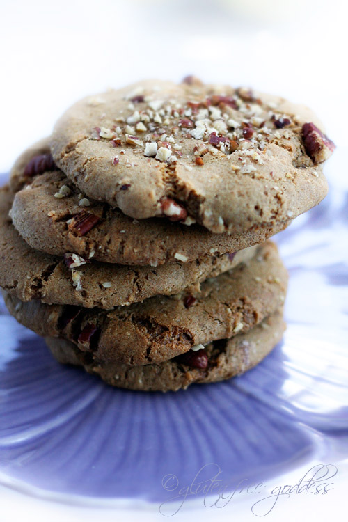 A stack of gluten free almond cookies