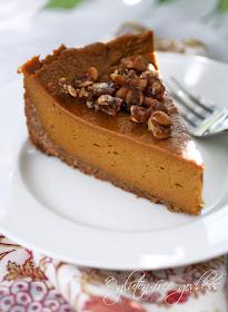Gluten free pumpkin pie with praline and coconut pecan crust