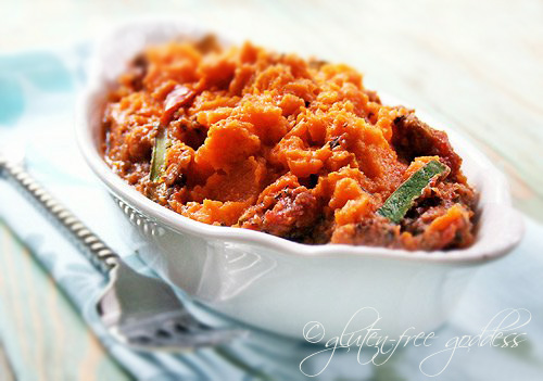Sweet potato topped shepherds pie is gluten free and delicious