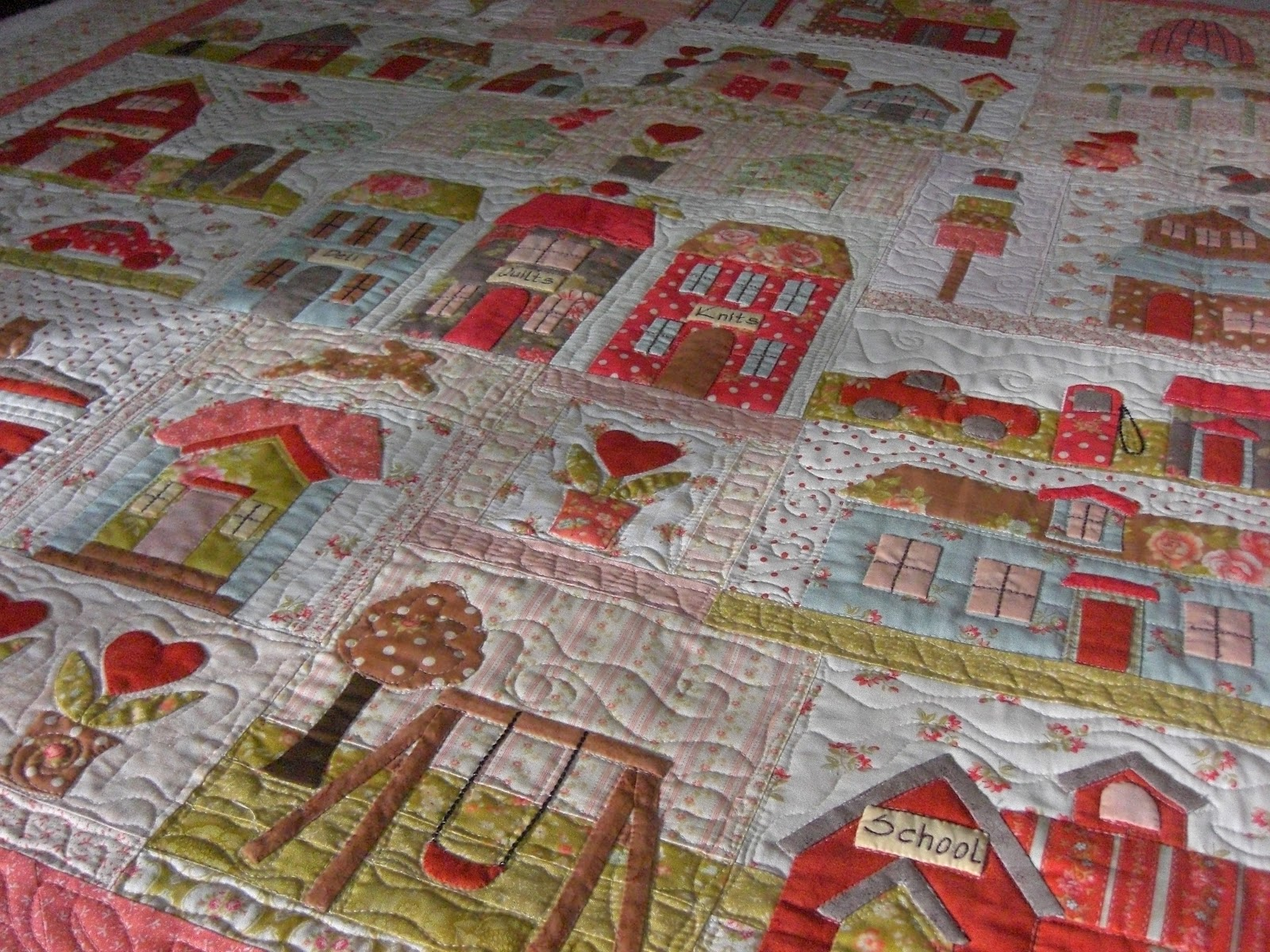 Quilting Square One Tiny Town