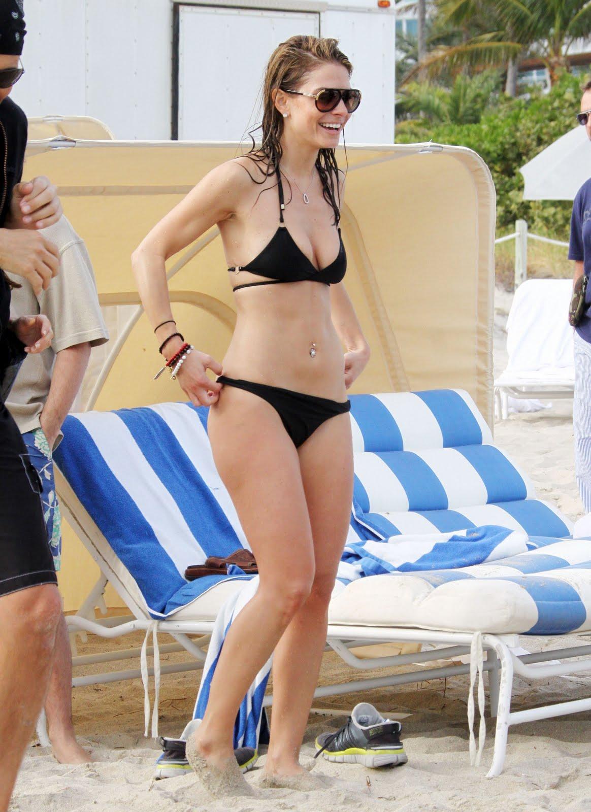 Maria menounos bikini pussy slip perhaps shall