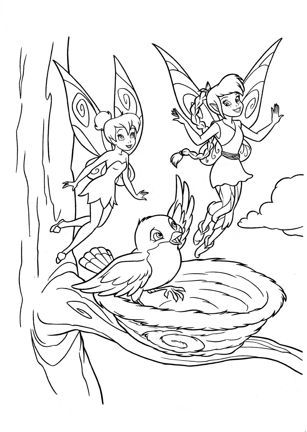 Disney fairs coloring pages ~ Disney Fairy coloring pages