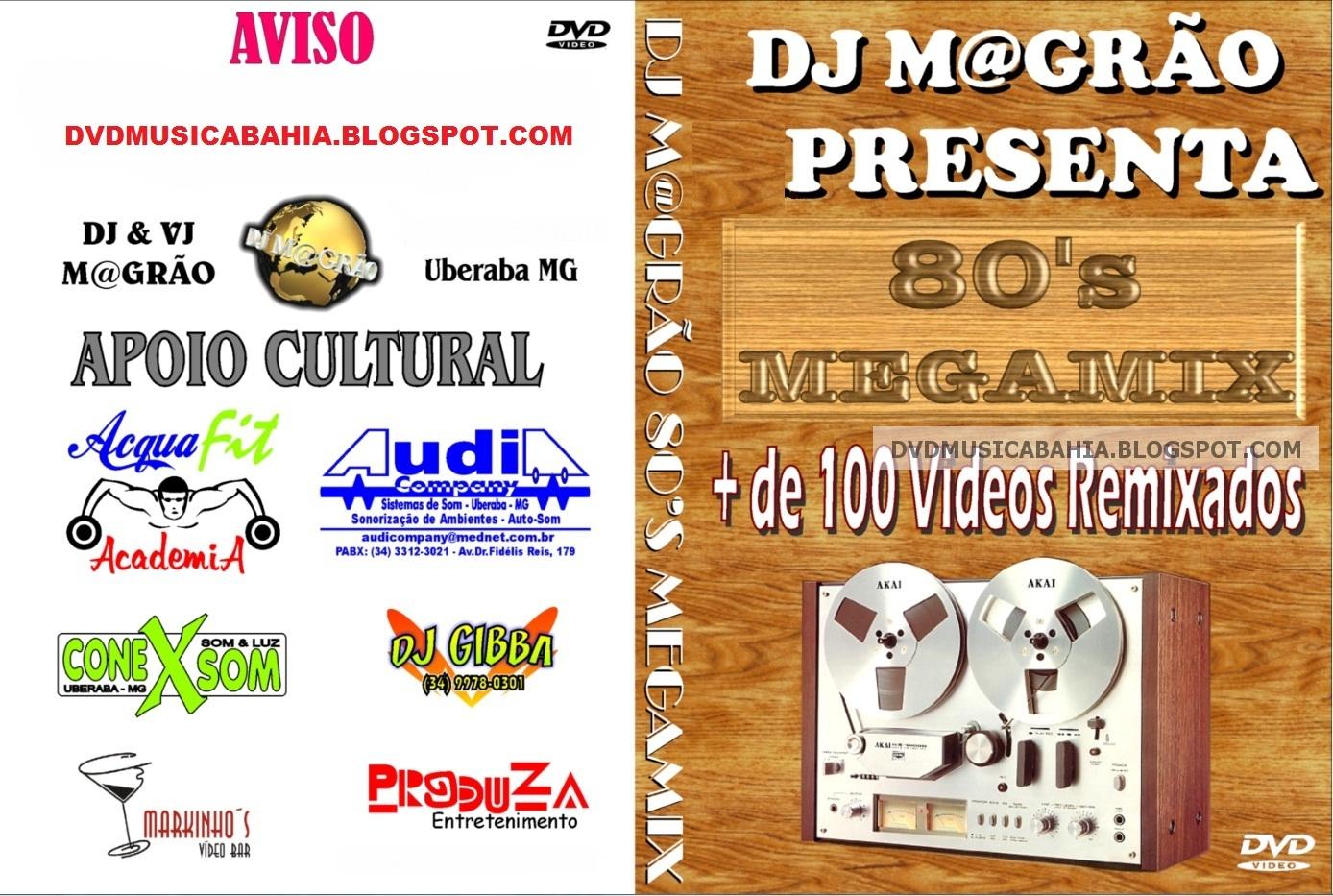 LOS MEJORES DVD DE MUSICA Y MAS    !!!!: DJ MAGRAO - 80's MEGAMIX
