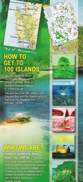 Hundred Islands Map Philippine Islands