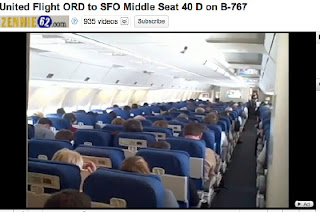 United Airlines Flight ORD to SFO Middle Seat 40 D on B-767