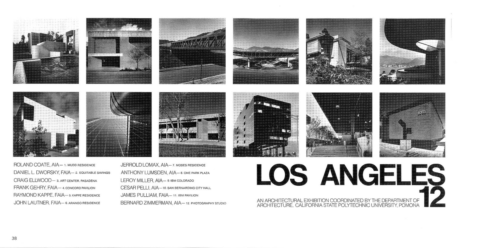 Southern California Architectural History The LA Twelve A - Los angeles poster black and white