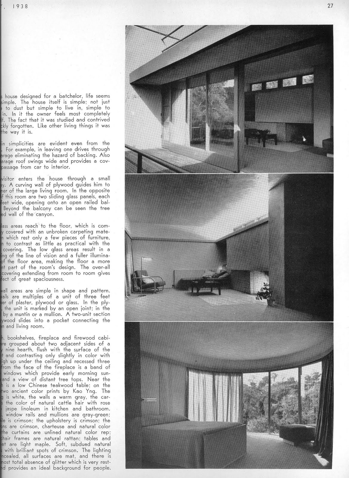 The Completed Entenza House Made Its CAA Debut In May 1938 Issue See Above Left And Right From My Collection