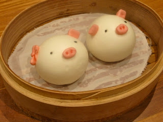 Pig-shaped dumplings