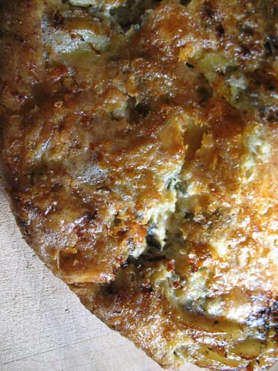 Potato, Onion and Stilton Frittata