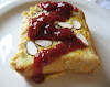 Baked Cherry-Stuffed French Toast with Cherry-Orange Sauce