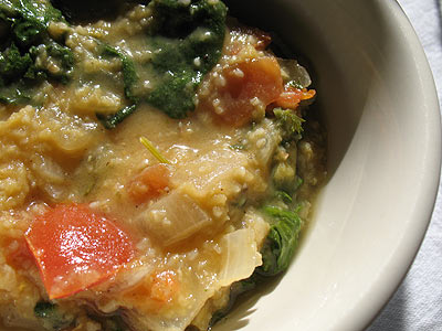 Moosewood's Turkish Lentil & Spinach Soup