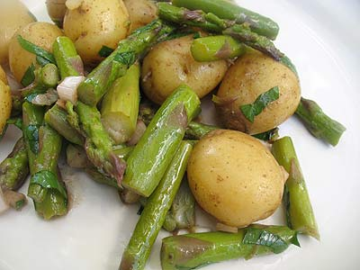 Warm Baby Potato and Asparagus Salad