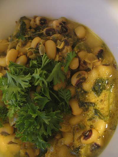 Black-Eyed Peas in a Yogurt Curry