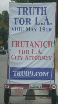 Hideous campaign sign, photo by Rosemary West © 2009