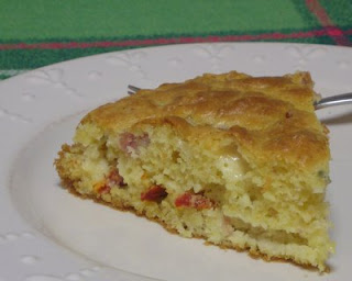 Corn bread, a great way to use up leftover ham and other tidbits