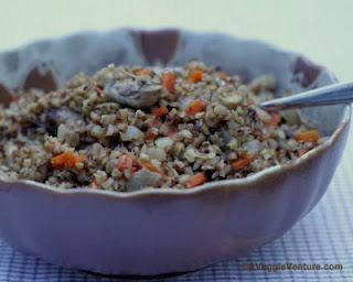A warm nutty flavor from whole-grain buckwheat groats cooked with carrots and mushrooms