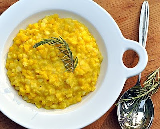 Fresh Creamed Corn ♥ KitchenParade.com