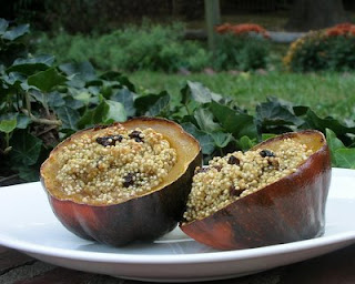 Acorn Squash with Quinoa & Cherries