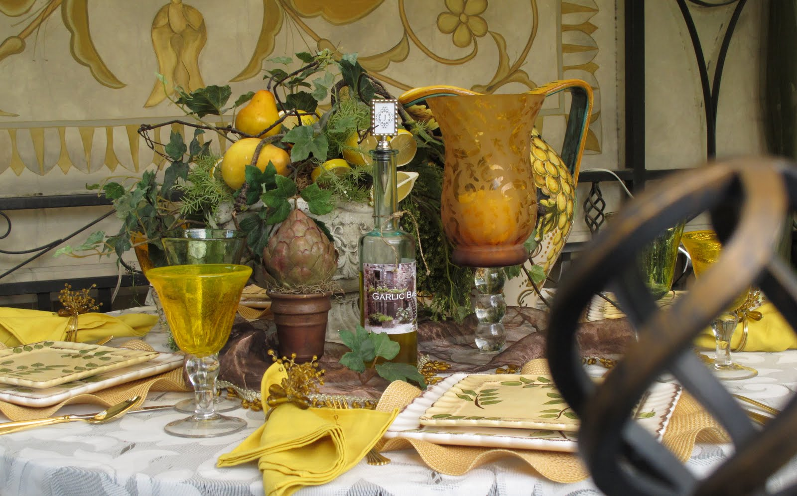 Tuscan Tablescape - Purple Chocolat Home