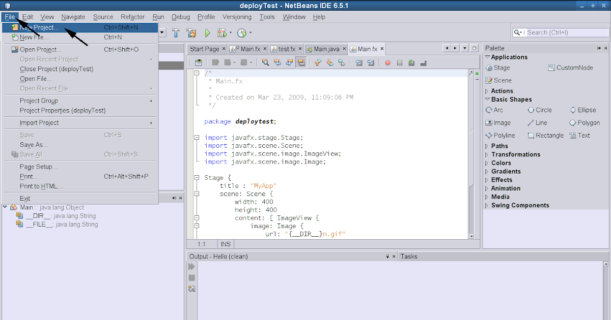 jcafe info: Execute Jar File of a JavaFX project on Linux, or How to