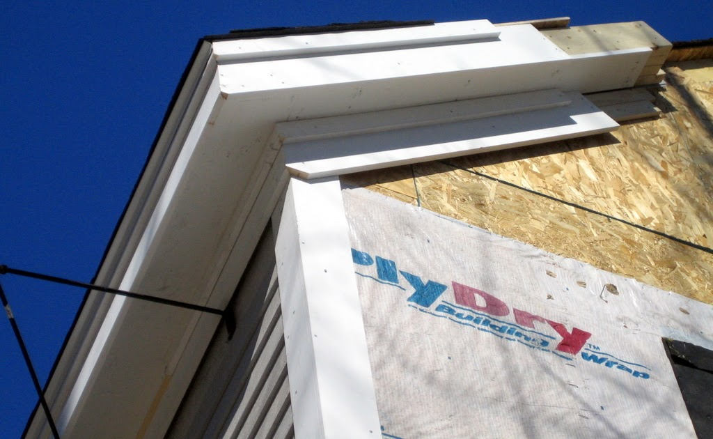 New House In Waban Roof Trim Detail