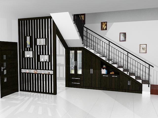 Tủ quần áo gầm cầu thang Dian Interior Design