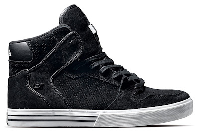 ca082ce8ba Supra launch a new set of Holiday 2009 colorways in their Vaider model. The  kicks are offered in four new options, including Black/Black,  Black/Grey/Blue, ...