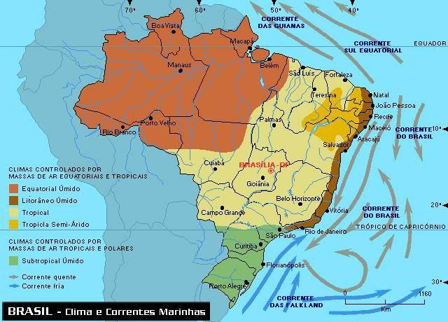 Resultado de imagem para mapa de classificações climáticas de strahler