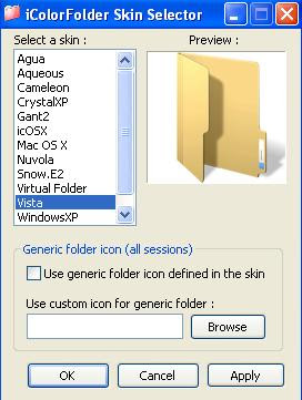 iColor Folder Skin Selector