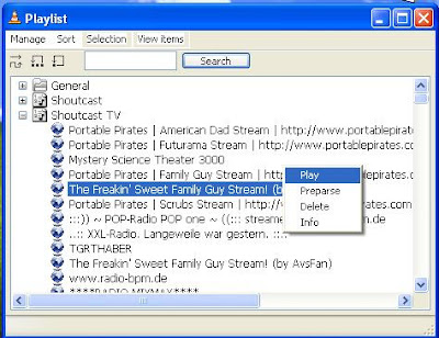 VLC media player playlist shoutcast TV_Shoutcast radio