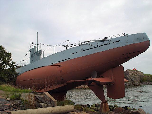 Submarine Vesikko, a wreck turned into a museum, Suomenlinna