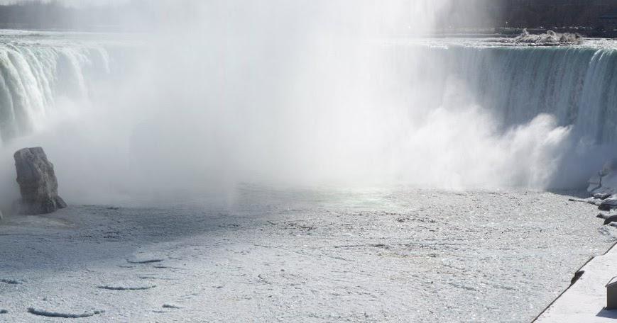 Frozen Niagara Falls In Winter | inspiration: Travel ... |Niagara Falls Frozen 2009