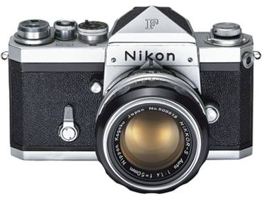 The Nikon F was introduced in 1959 with a comprehensive range of high quality lenses and accessories. During its lifespan, new items were continuously added, comprising bulk film magazine, electrical motor drive, viewfinders, focusing screens, close-up and scientific attachments, flash units, remote controls, and even a Polaroid back, the Speed Magny, as well as a wide variety of exposure meters, both separately available or as part of the finder prism, the latest of those being TTL meters, known as the Photomic. - WIKIPEDIA