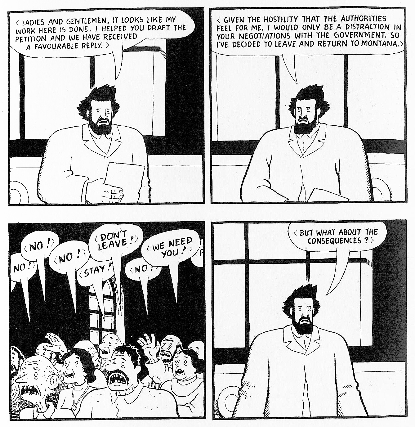 Louis Riel by Chester Brown.