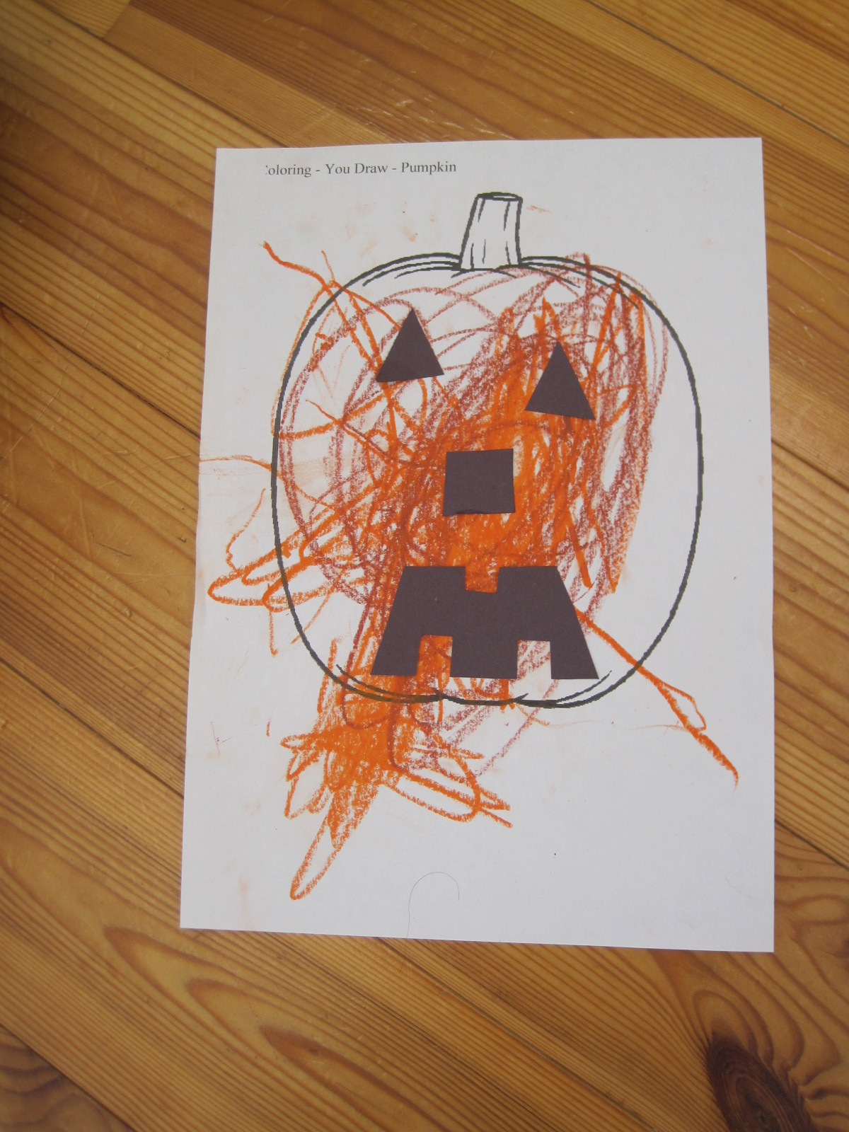 Easy Halloween Jack O Lantern Craft