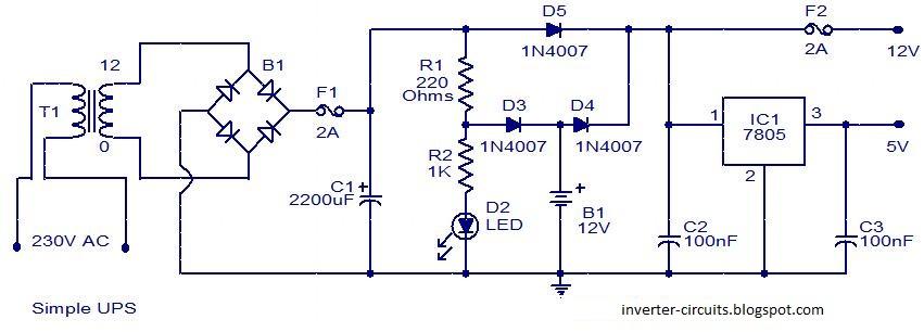 Circuits Diagram: Simple UPS