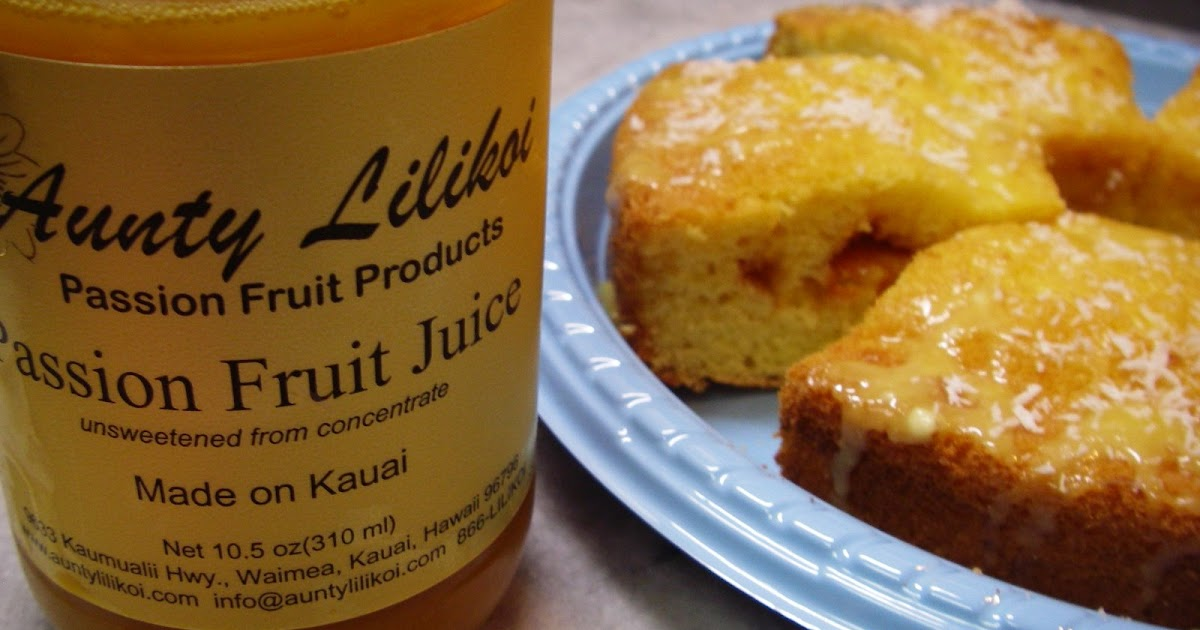 Hawaiian Passion Fruit Cake Recipe