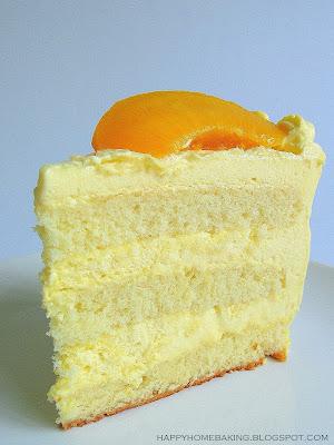 Fresh Peach Cake Filling