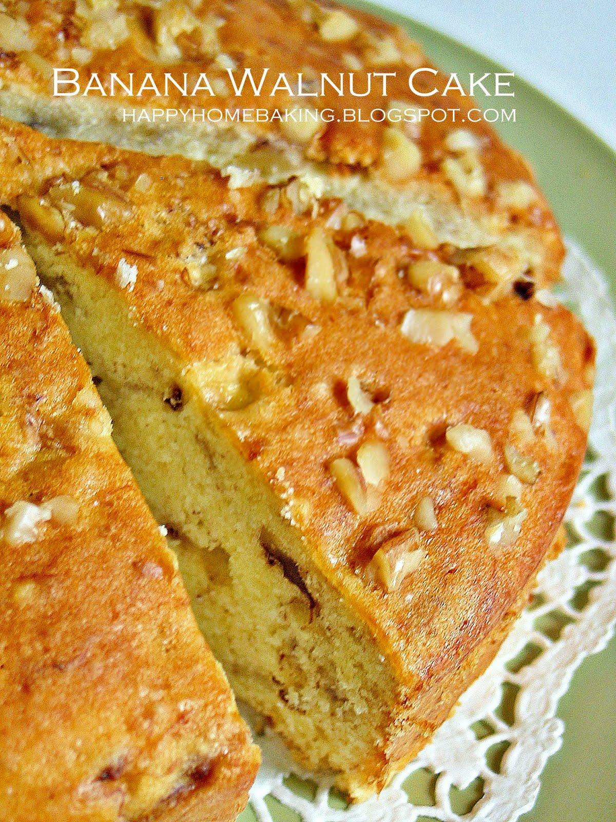 Banana Walnut Cake Recipe India