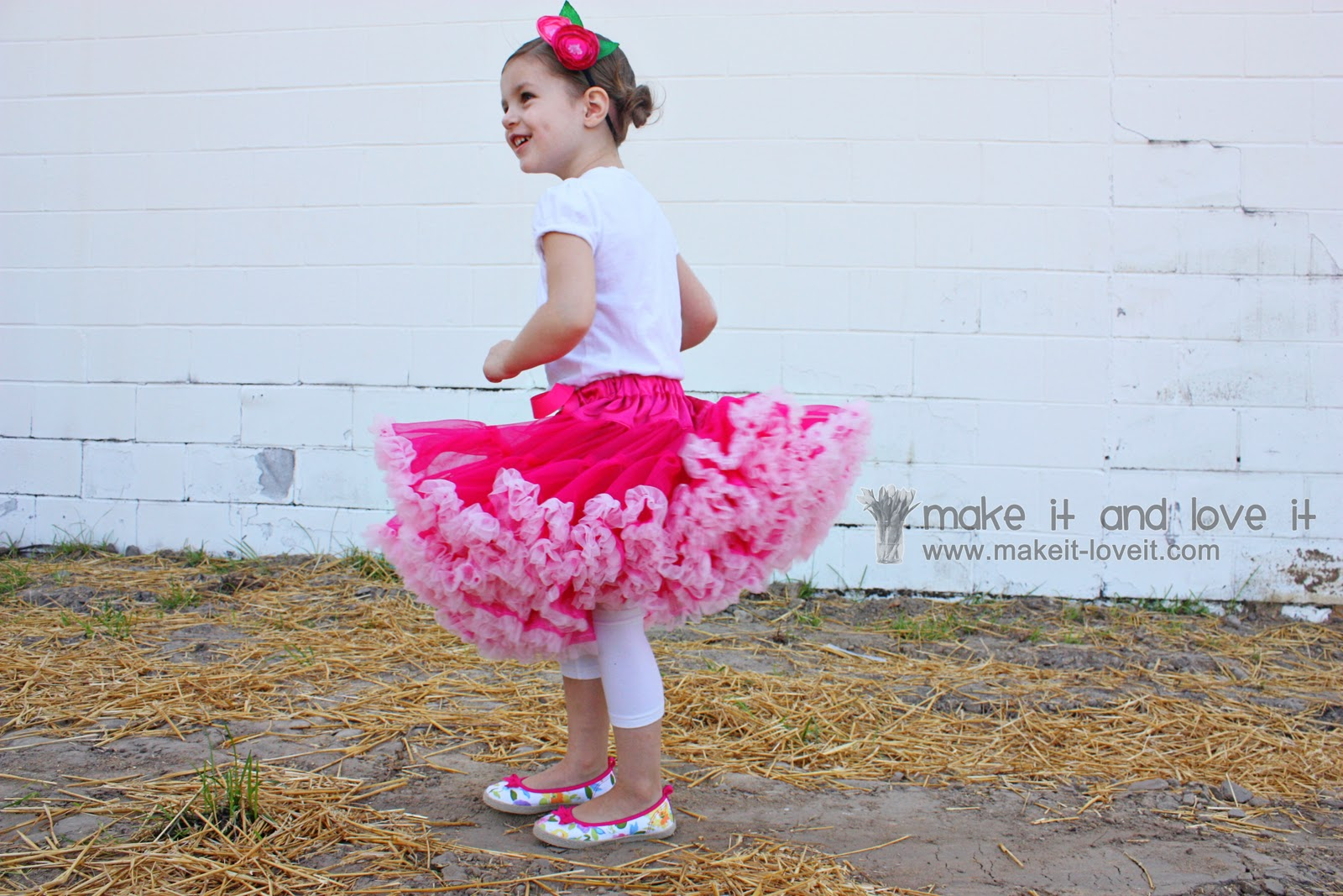 Hot Light Pink Multi-Color Pettiskirt Hot Pink Top 1-8Y