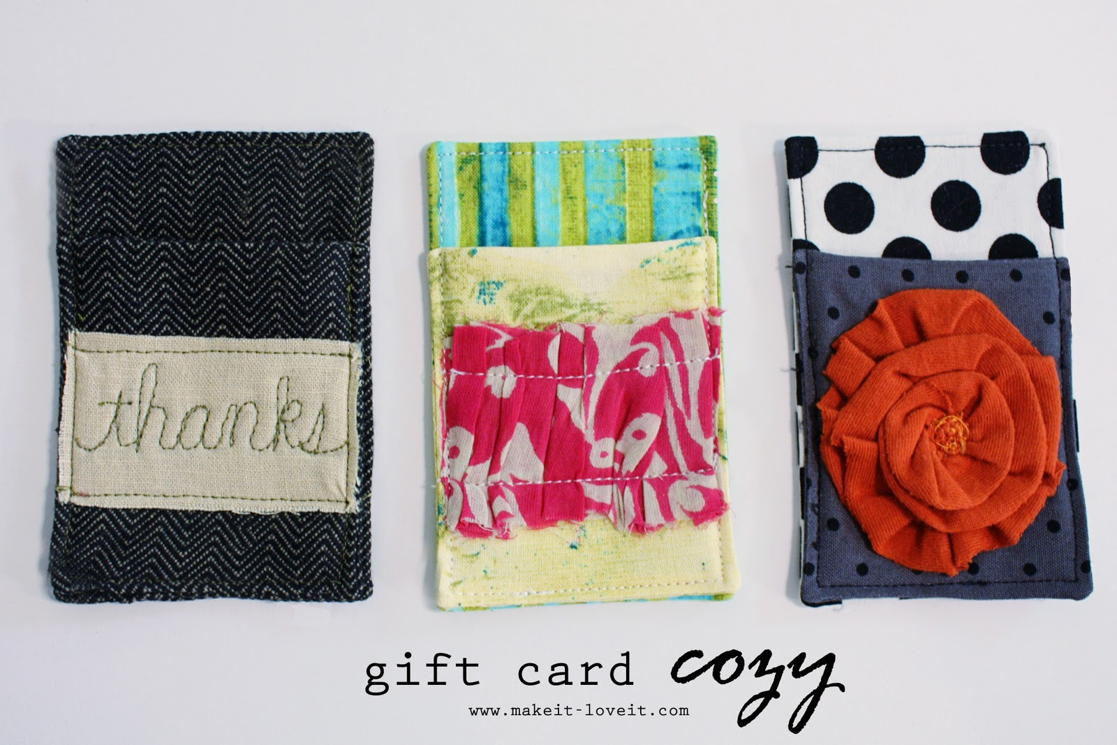 Gift Card Cozy Make It And Love It