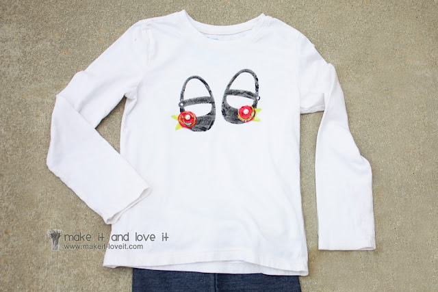 DIY T-Shirt with Freezer Paper Stencil - The Simply Crafted Life