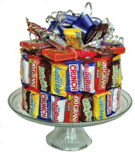 Birthday Candy Bar Cakes