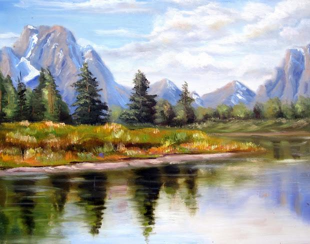 Davis Galleries Landscape Art View Of Tetons