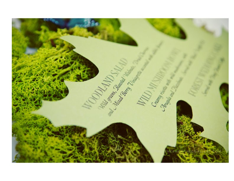 Enchanted Forest Themed Wedding Invitations: Style Me Pretty: Enchanted Forest Wedding The Invitation