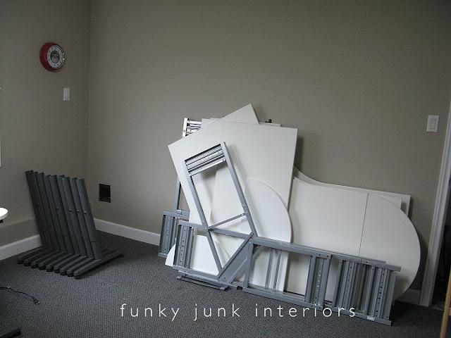 Old office desk gets dismantled for a new farmhouse desk!