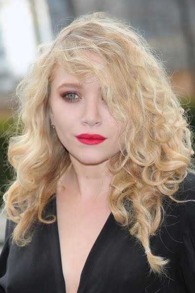Messy blonde curly sexy